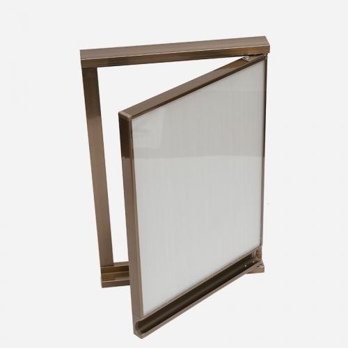 晶钢门铝材质量好坏的三点辨别方法